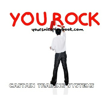 Business man paint business wording concept on background, You rock