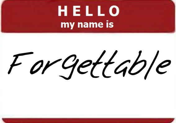 forgettable name tag