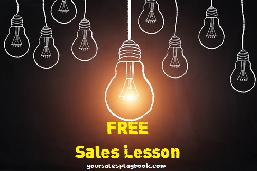 FREE Sales Lesson
